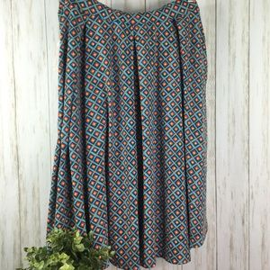LuLaRoe Madison Size 3XL Pleated Skirt Geometric